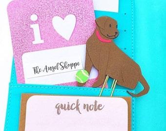CUSTOM dog Planner Clips/ BookMarks