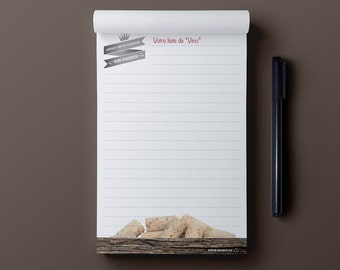 Notepad - The Wine List