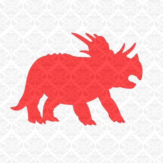 Triceratops Dinosaur Tyrannosaurus Monogram Dino SVG DXF STUDIO ai eps png scalable vector instant download commercial use cutting file