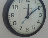 Vintage Office Wall Clock/Industrial Clock/Mid Century  Wall Clock/Large Wall Clock/Restoration Hardware Clock/Vintage General Electric