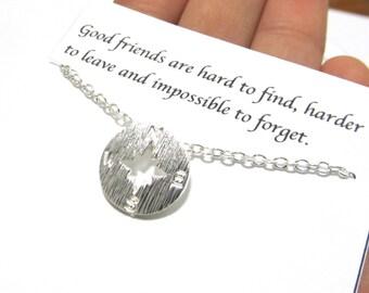 A5 Best friend gift necklace, best friend gift, best friend necklace, compass friendship necklace,birthday compass best friend gift necklace