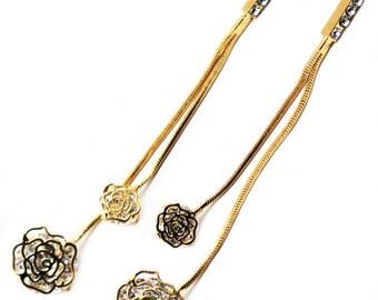 Lovely lady Rose gold earrings