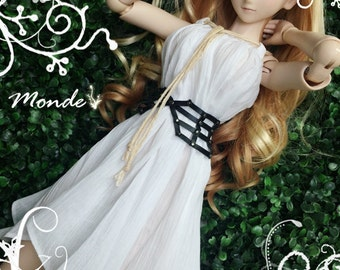 BJD SD DD 1/3 White dress/one piece - ONT130853SIWH