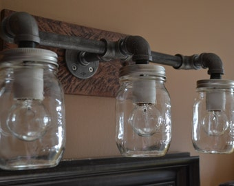 industrial bathroom vanity mason jar light vanity lighting bathroom light