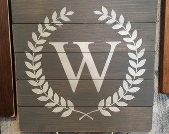 "READY TO SHIP Custom Family Monogram (12.5""x12.5"")"