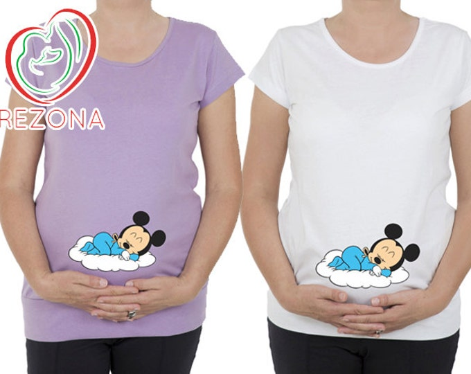 Maternity clothes, Maternity Clothing, Mickey Mouse Maternity Shirt, Baby Pregnancy MATERNITY Shirt,Peekaboo, Peek a boo,Baby Peeking