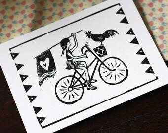 Greeting Card - Pedal Power