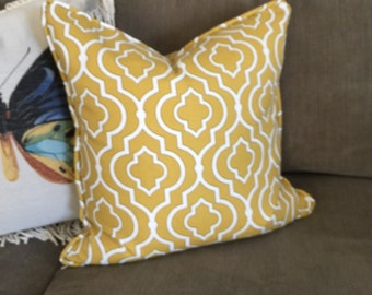 "Yellow Pillow Cover 20"" x 20"""