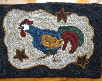 Rooster, Running Rooster, Blue Rooster