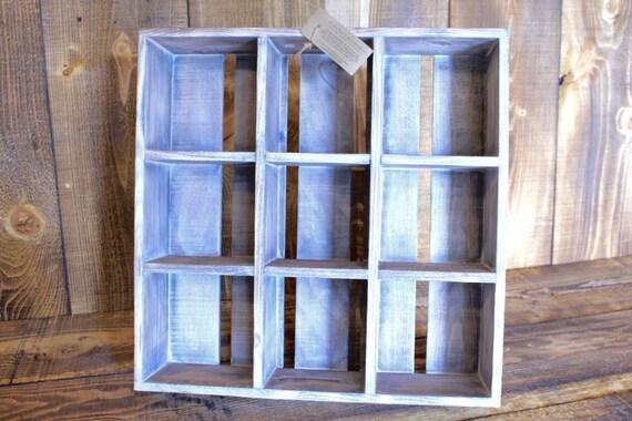 White Washed Handmade Crate-Style Shelf & Organizer --- Flintface Woodshop