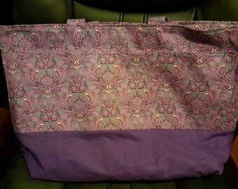 Purple Owl Heavy Duty Purse/Tote Bag