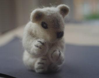 Needle felted Polar Bear.