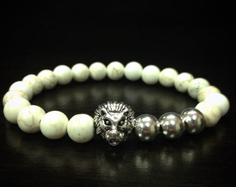 Lion Series x Sterling Howlite