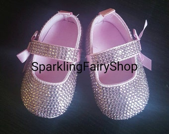 Baby shoes with crystal