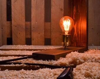 Edison Lamp, Rustic Lamp, Table Lamp, Edison Table Lamp, Industrial Lamp, Wooden Lamp, Edison Bulp lamp, Handmade Lamp, Desk Lamp, Edison