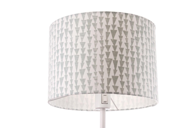 sample sale large lamp shade grey white geometric pattern. Black Bedroom Furniture Sets. Home Design Ideas