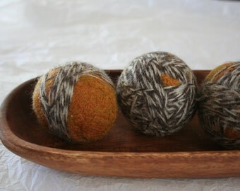 Upcycled 100% Wool Dryer Balls (Set of 3)