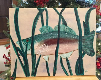Acrylic painting - Hiding