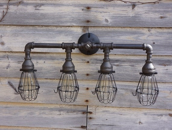 Bathroom Vanity Lights Etsy : BATHROOM VANITY LIGHT Free by 9thAveIronWorks on Etsy