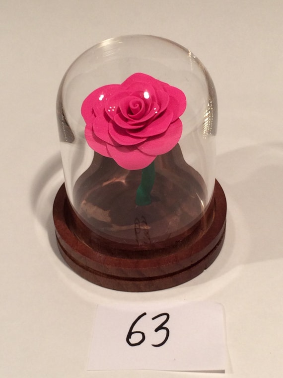 Beauty And The Beast Glass Dome Cake Topper