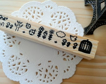 Stamp Tree Spring Time Wooden Rubber Stamp/1 PC