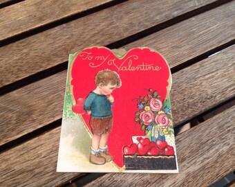 Vintage Valentine Card - Bavaria - 1920's