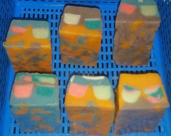Chaotic Sweet Pea handmade natural soap
