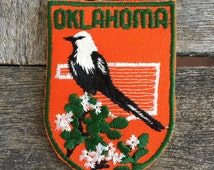 Oklahoma Vintage Souvenir Travel Patch from Voyager