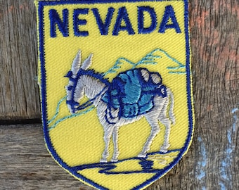 Nevada Vintage Souvenir Travel Patch from Voyager