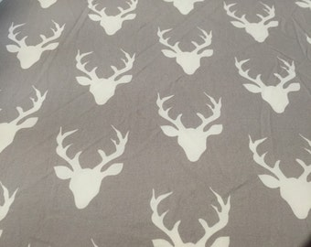 Fitted cot sheet crib sheet grey stag