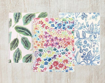 GARDEN PATTERN NOTEBOOKS | Set of 3 | 8.5 x 11"