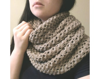 Snood /Chunky cowl scarf / Knit cowl / Openwork scarf