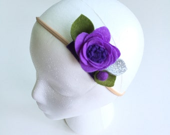 Purple Yam || Single Flower Headband