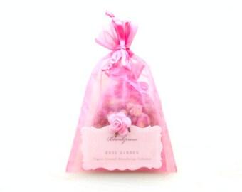 Rose Garden • True Love • Organic Damask Rose & Provence Rose Scented Sachet • Artisanal Aromatherapy • Botanical Room + Bathroom Potpourri