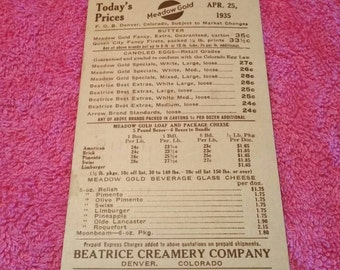 Meadow Gold Beatrice Creamery Colorado Butter 1931 Post Card