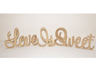 Love Is Sweet Wooden Wedding Sign