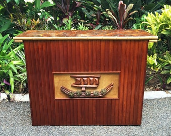 Tiki Bar Mallee Root Inlay Top 1960s
