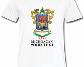 Michoacan Mexico T-shirt V-Neck Tee Vapor Apparel with a FREE custom text(optional)