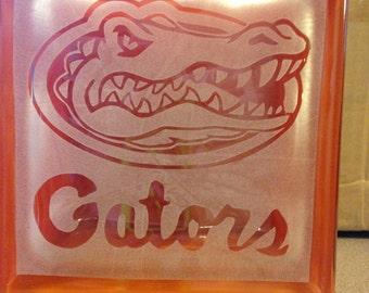 Florida Gators glass block