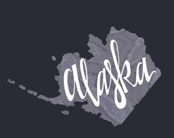 """Decorative Print - """"Alaska State Print"""" 8x10, 11x 14"""