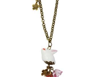 Sakura & Usagi charm necklace