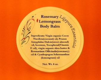 Rosemary Lemongrass Body Balm 4 oz