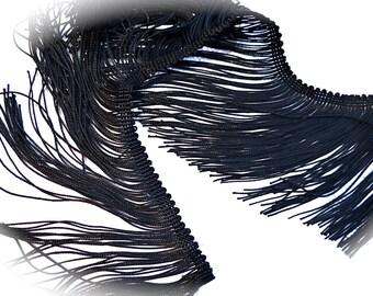 Black Fringe Costume Trim Sewing Supplies T-111