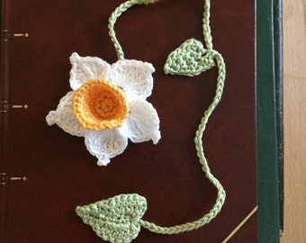 Daffodil crochet bookmark