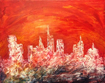 Cityscape -  Original Abstract Art
