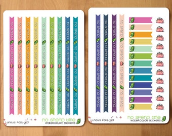 "13 ""No Spend"" Stickers Washis perfectly fitting Erin Condren Vertical and Horizontal Planners"