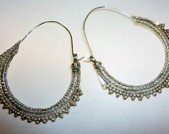 Afghani Tribal Hoop Earrings