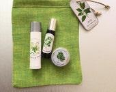 Organic Make-up Transition Set, Vegan, Safer Non-Mineral Makeup , Make-up Transition Starter Set with Free Eco-friendly  Linen Case