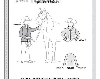 PDF Girls' Western Show Jacket and Blouse Pattern