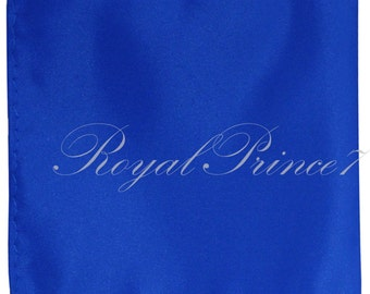 "Royal Blue Solid 10"" x 10"" Pocket Square Handkerchief Hankie"